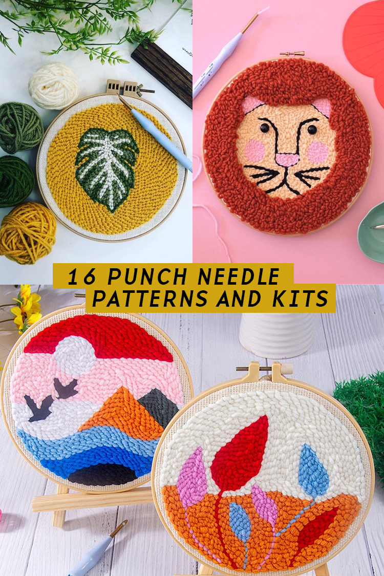 16 Punch Needle Kits & Patterns That Help You Hone This Embroidery at Home