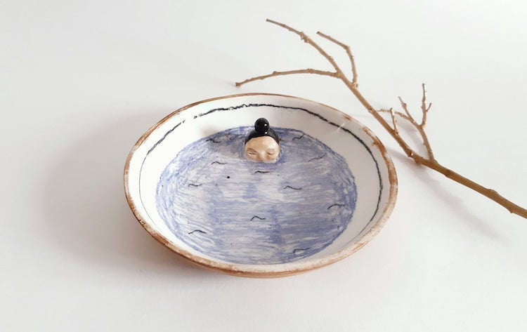 Quirky ceramic dish