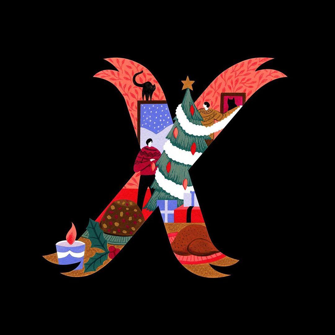 Illustrated alphabet by Namasri Niumim
