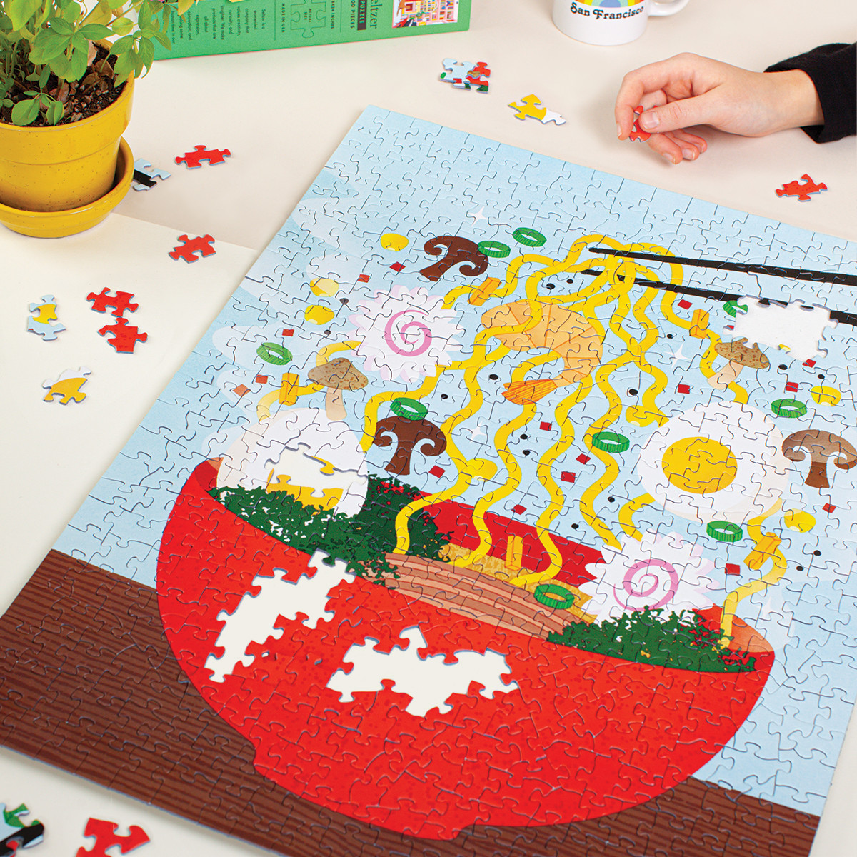 Illustrative Jigsaw Puzzles Make the Challenging Activity a Beautiful One
