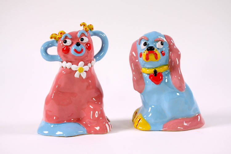 Colorful Ceramics Inspired by Kitsch Ornaments Give These Figurines a New Story to Tell