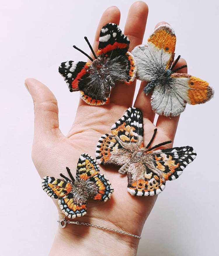 Intricate Embroideries Make It Possible to Hold Delicate Butterflies on Your Fingertips