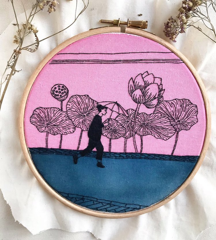 Contemporary Hoop Art Wields a Needle and Thread Like You Would a Pen