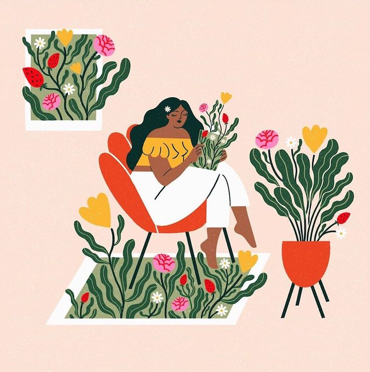 Illustrations by Romane Bonsoir Are Reminders of the Little Ways to Be Kind to Yourself