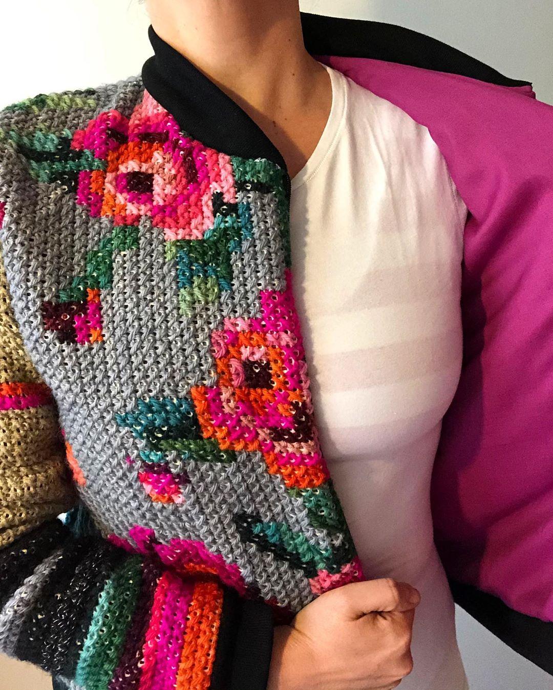 Cross stitch jacket