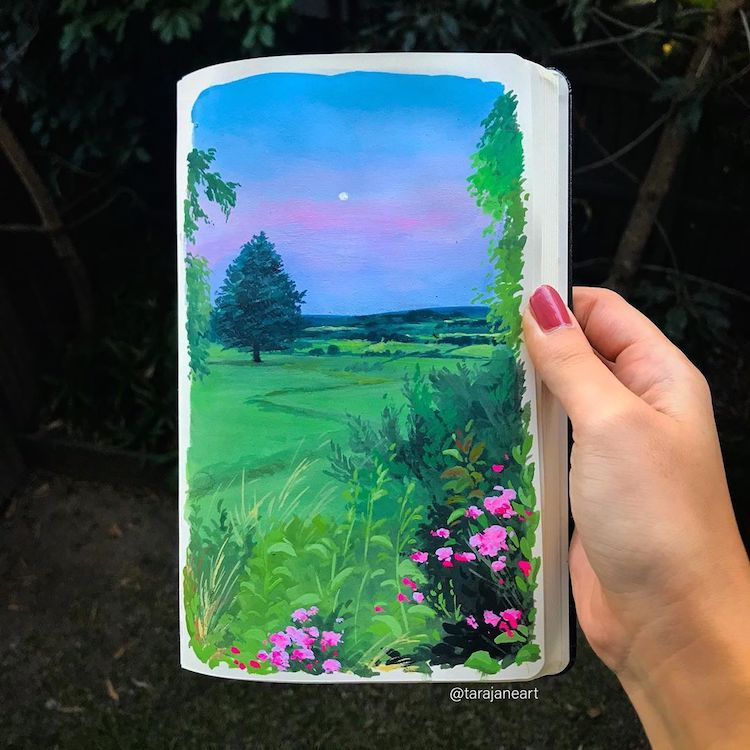 Sketchbook painting by Tara Jane