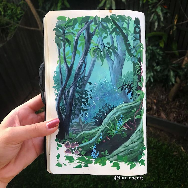 Sketchbook art by Tara Jane