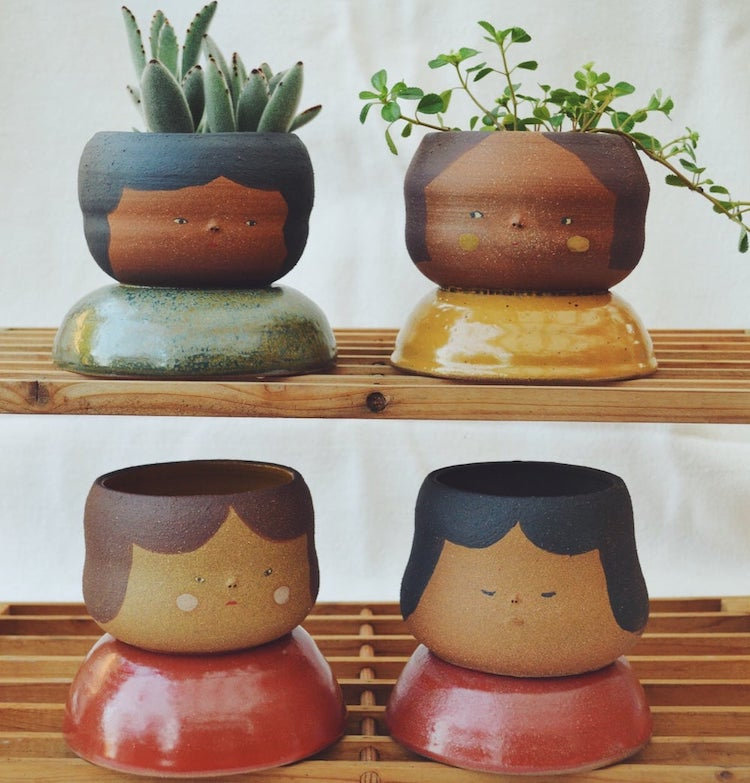 Ceramic Face Planters Find Individuality in Each Imperfection
