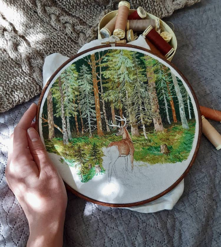 Thread Painting Embroidery by Jūra Gric