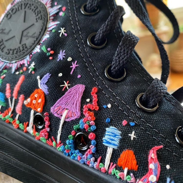 Embroidered shoes by NonakedDenim