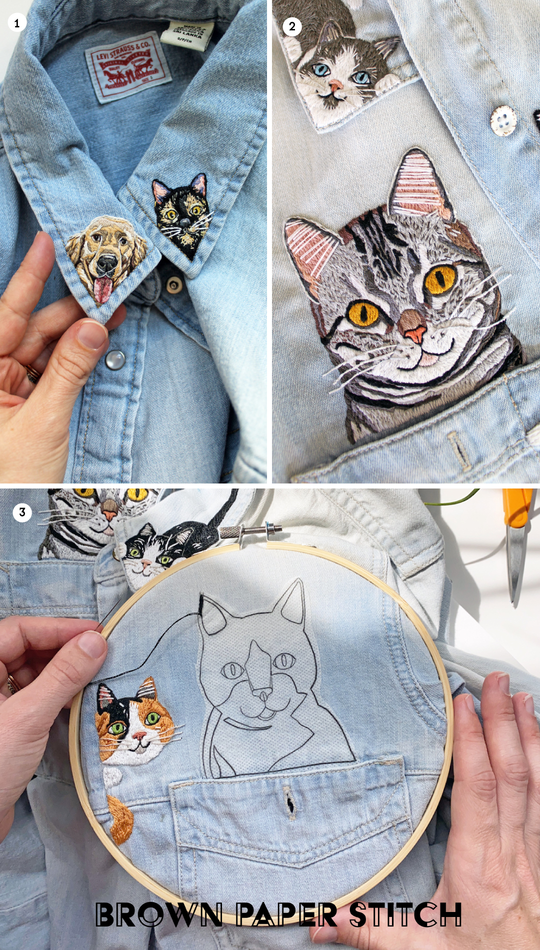 Personalized pet embroidery