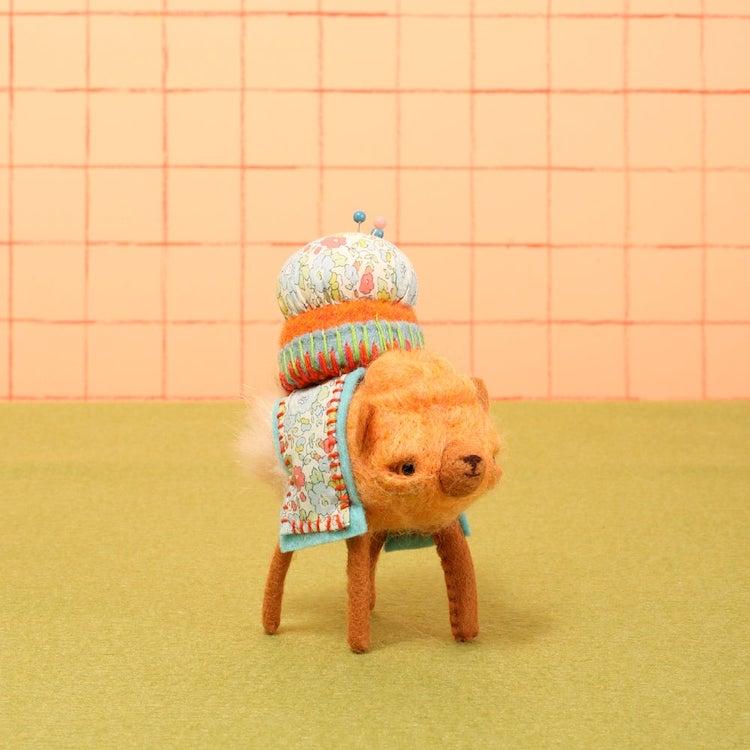 Cute dog pincushion by Cat Rabbit
