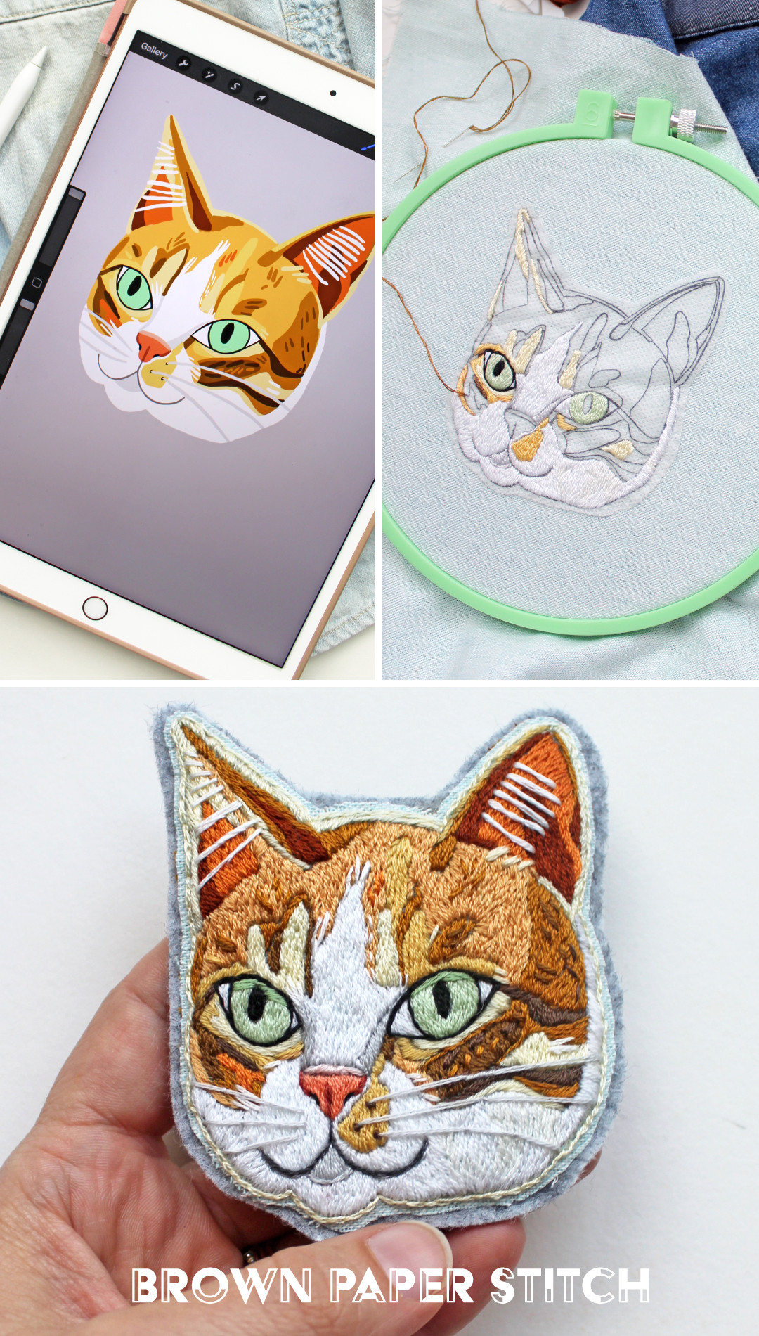Celebrate Your Furry Friend With This Custom Embroidered Patch [Dispatches From Brown Paper Stitch]