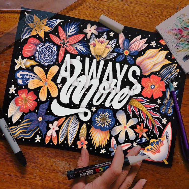 Hand lettered illustration by Macarena Chomik