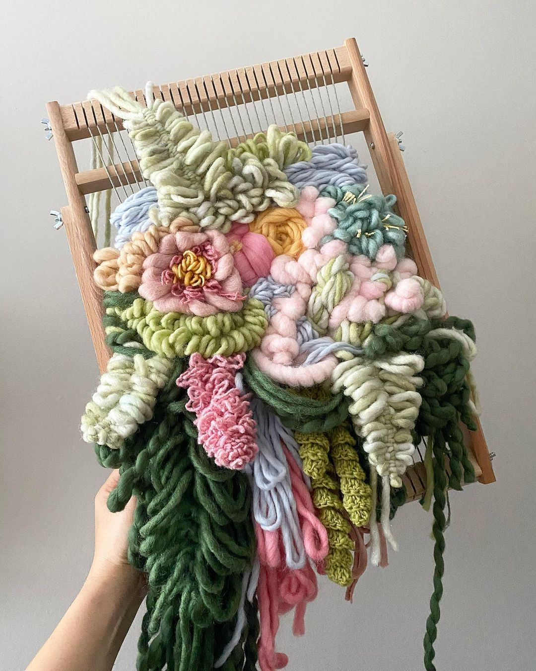 These Woven Wall Hangings Are Bursting With a Beautiful Bounty of Blooms
