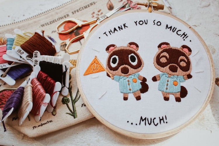 Go to Your Own Stitchy Island With These Charming Animal Crossing Embroideries