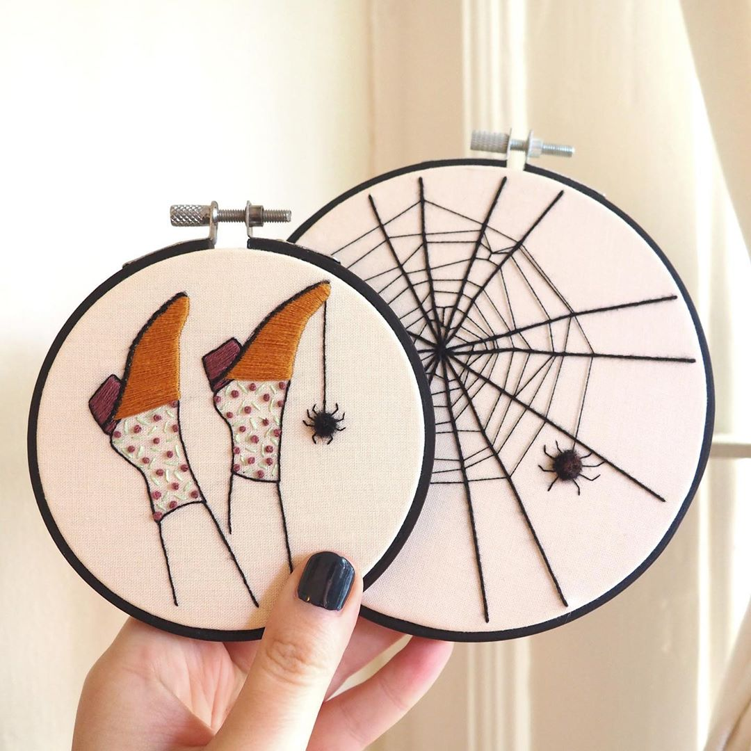 These Halloween-Inspired Embroideries Are a Stitchy Way To Get Spooky
