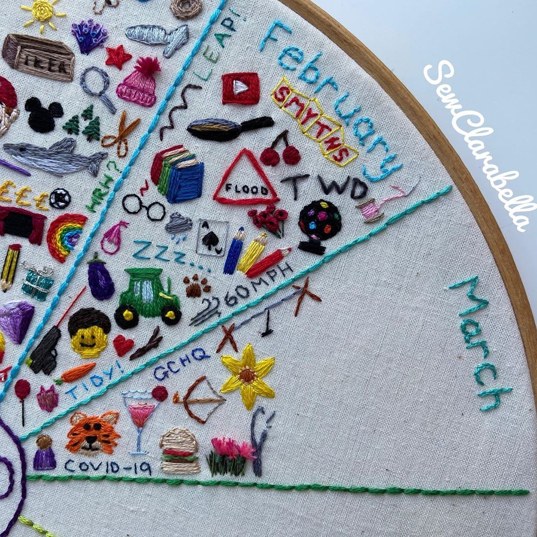 A Stitch a Day // 1 Year of Stitches by Clare Hodges