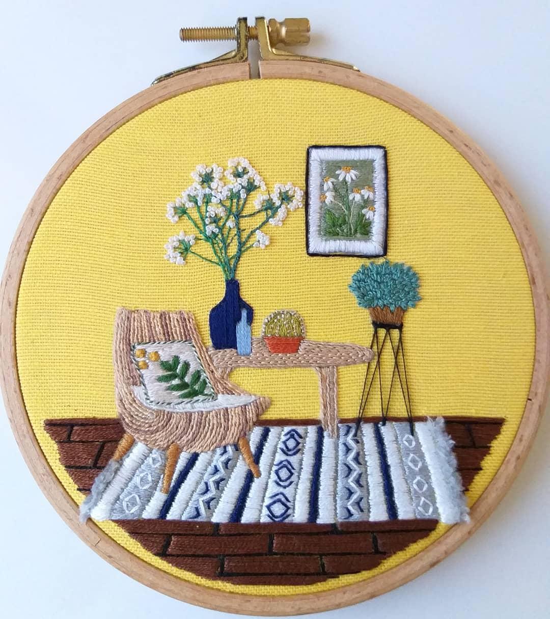 Interior embroidery by Fatma Karaca