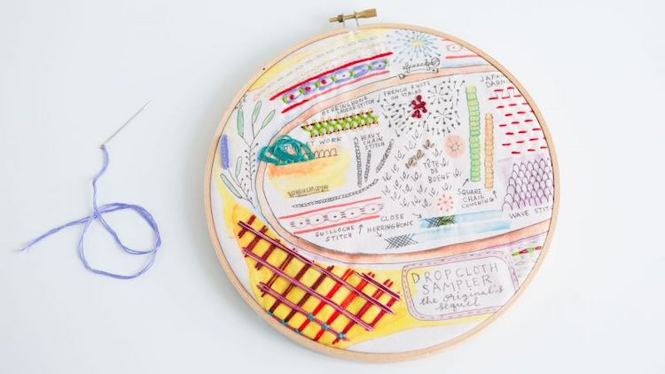 Embroidery sampler by Rebecca Ringquist