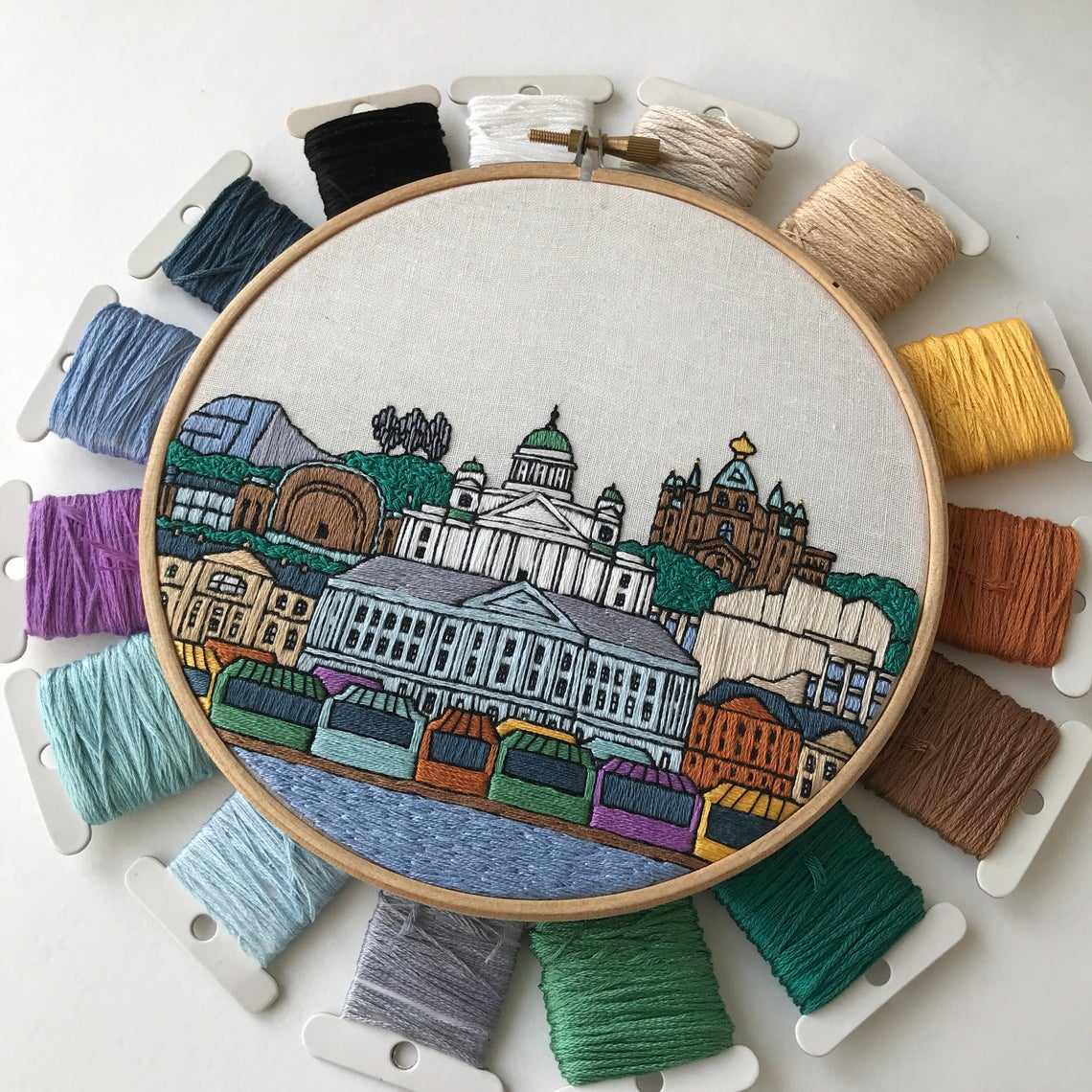 Architecture Embroidery Pattern
