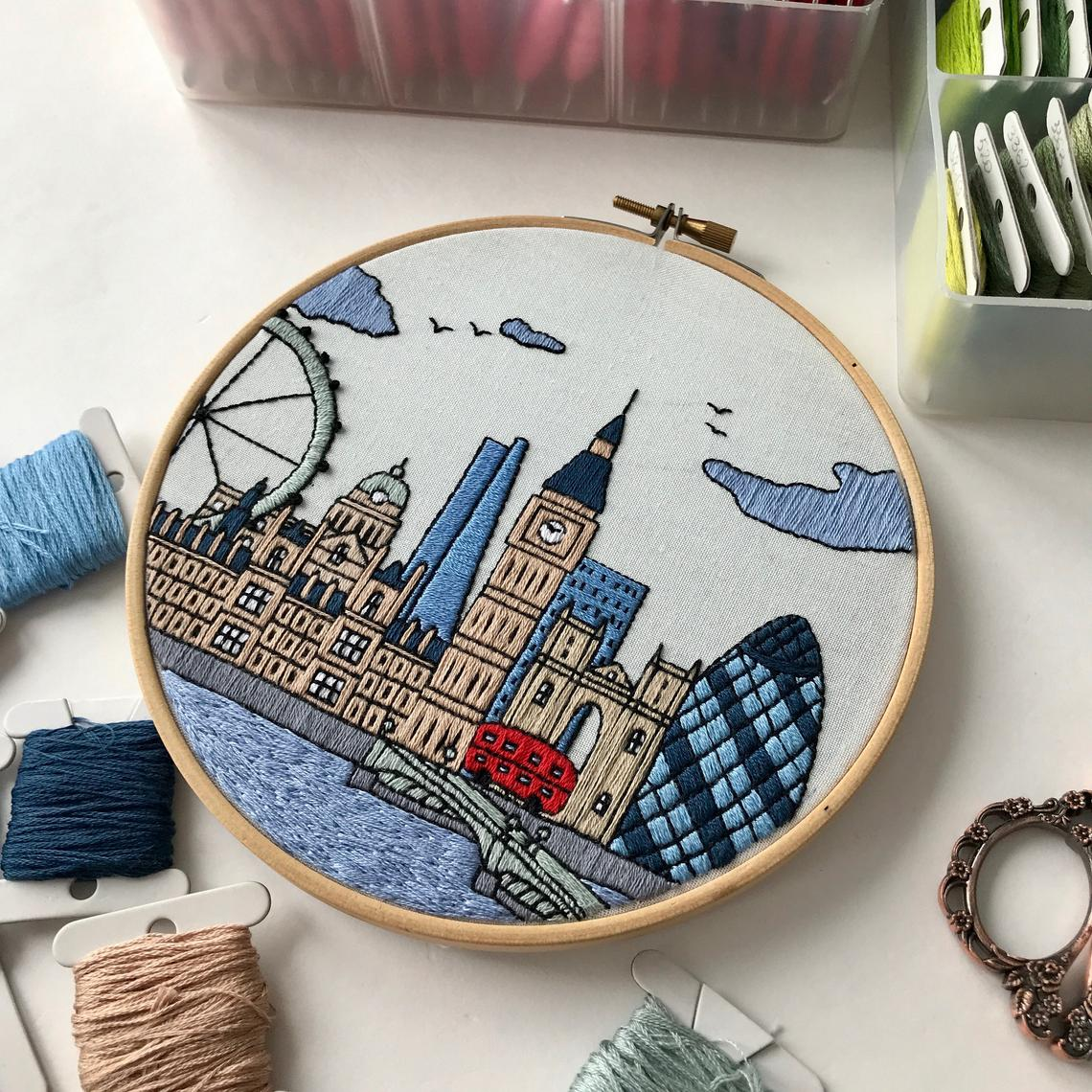 London Embroidery Pattern