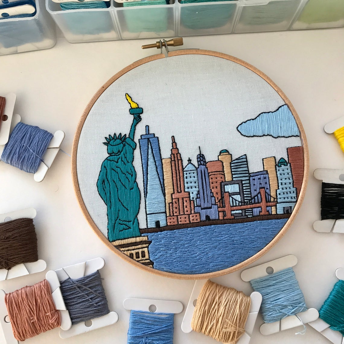 New York City Embroidery Pattern