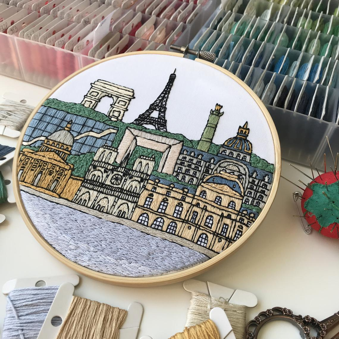 Travel the World When You Stitch These City-Inspired Embroidery Patterns