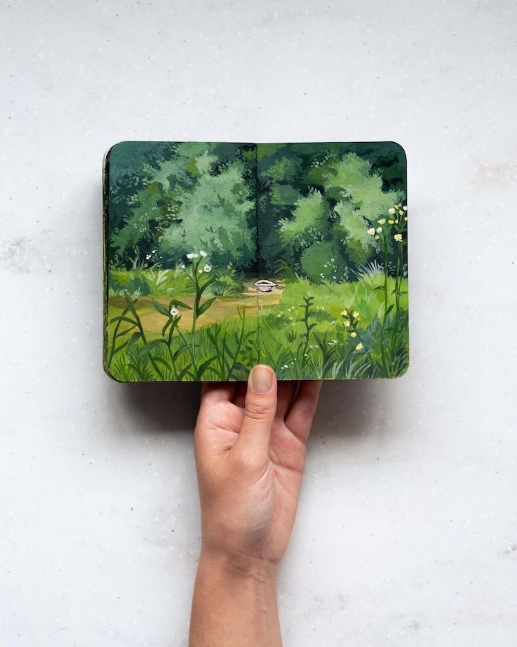 Painted Sketchbook by Hannah Podury