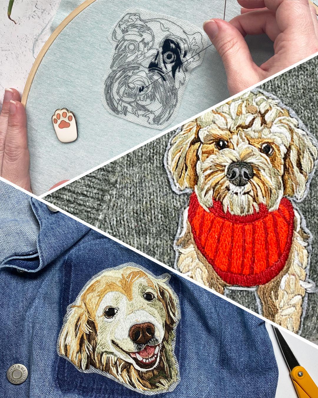 Pet Portraits by Brown Paper Stitch