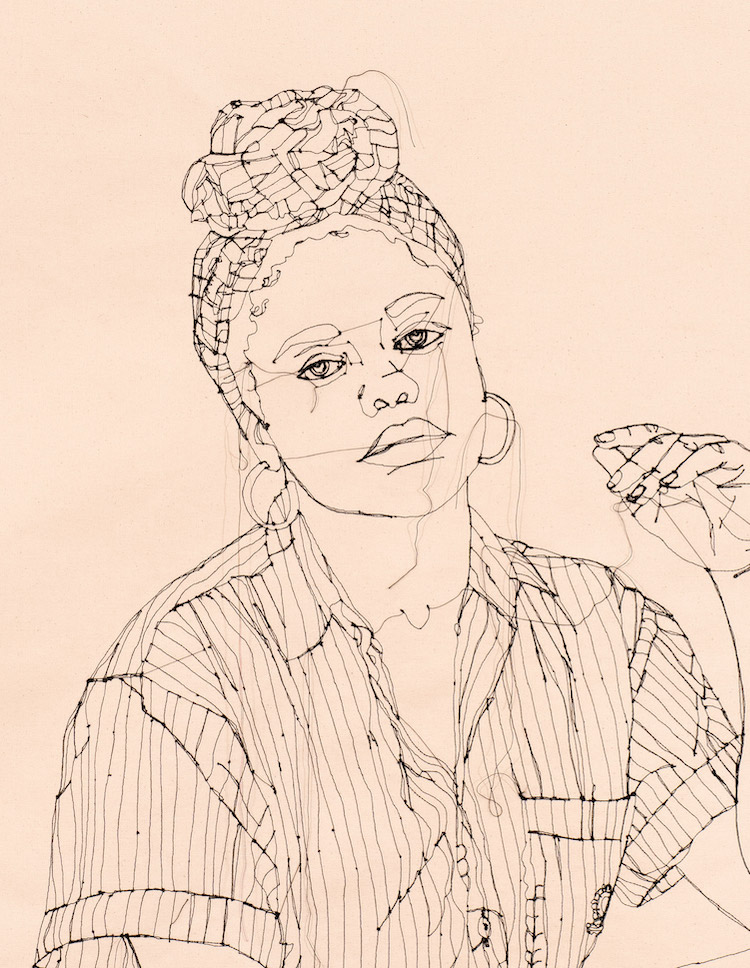 Gio Swaby's Thread-Stitched Portraits Explore Personal Style as a Tool of Resistance