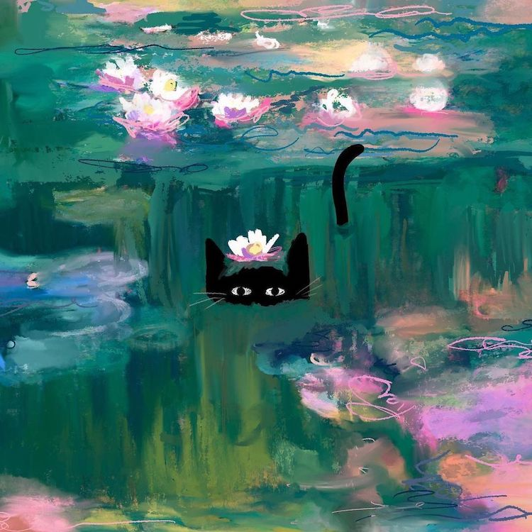 These Charming Illustrations Prove Cats and Art History Are a Purrrfect Combination