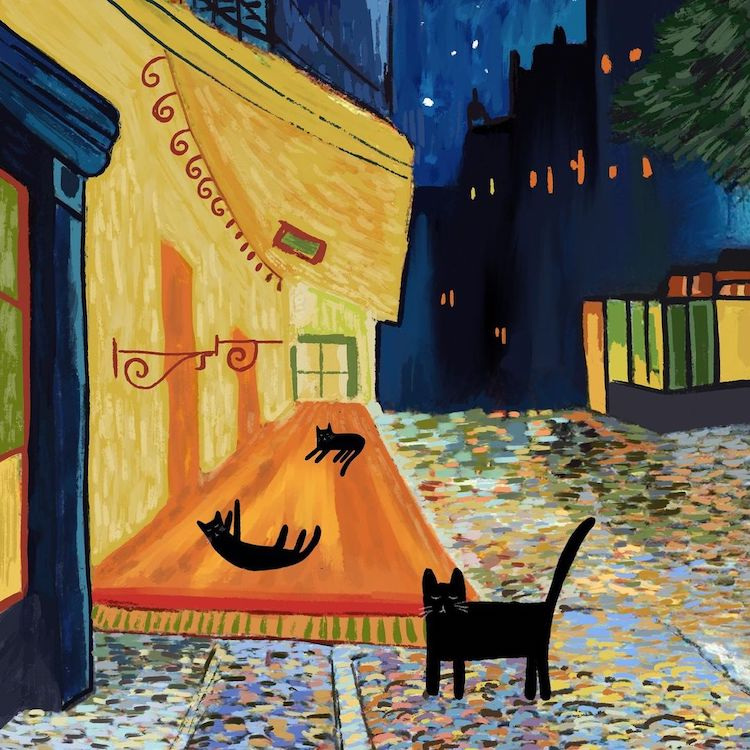 Cat art and art history by Nia Gould