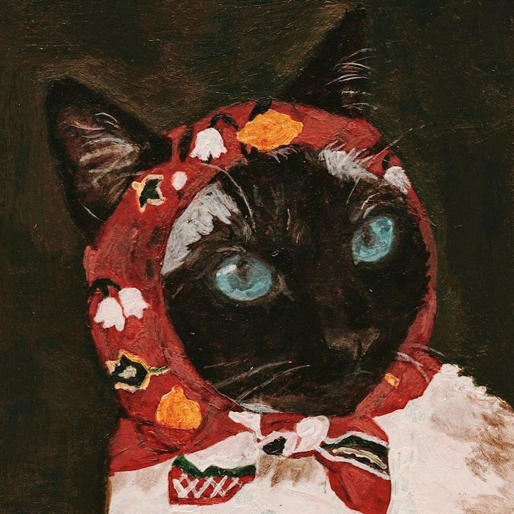 These Cats Are Wrapped in Colorful Babushkas and Ready For a Blustery Day