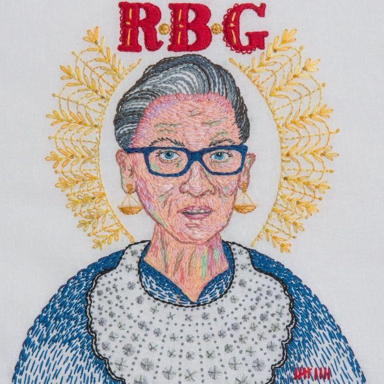 Embroidery of Ruth Bader Ginsberg