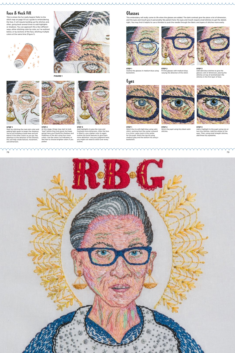 How to stitch Ruth Bader Ginsberg