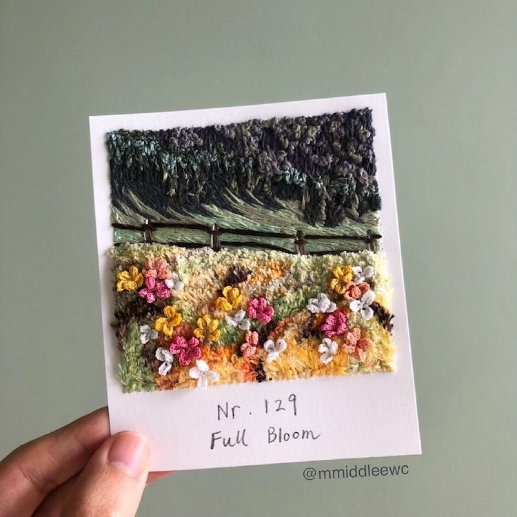Polaroid Embroidery by Artemis
