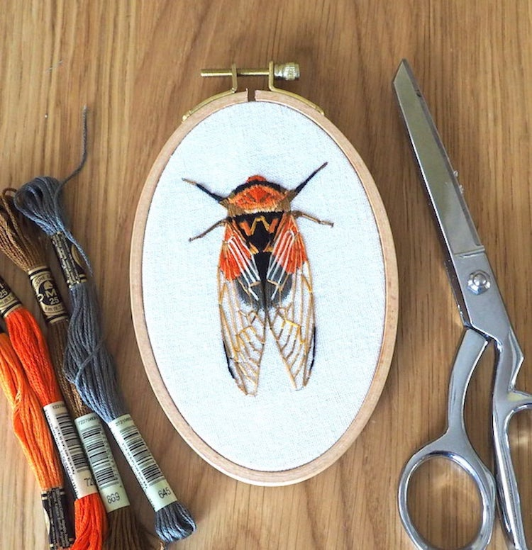 Stitch the Beauty of Bugs With These Intricate Embroidery Patterns