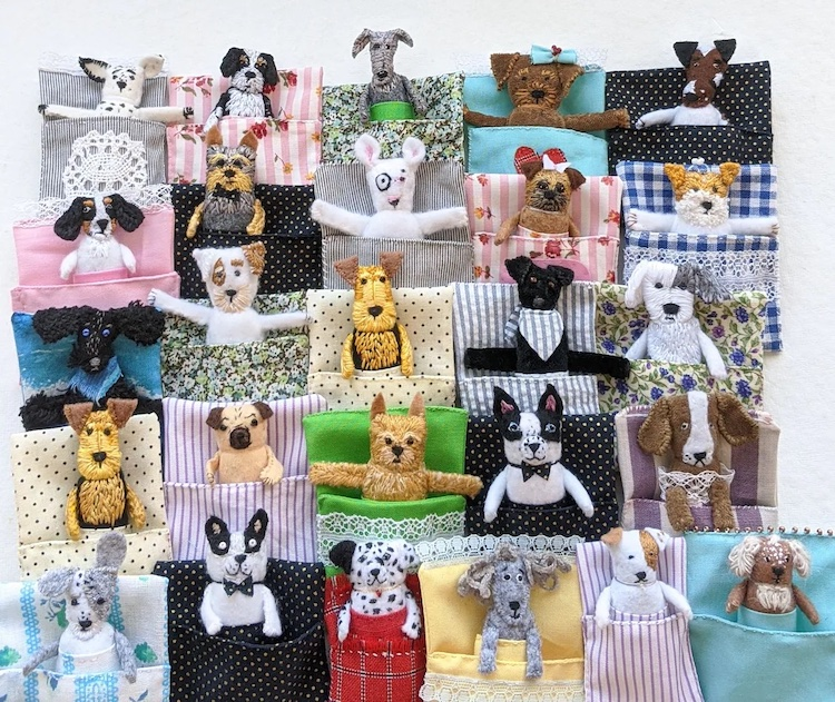 Tiny Custom Dog Dolls Are Inspired by the Guatemalan Tradition of Worry Dolls