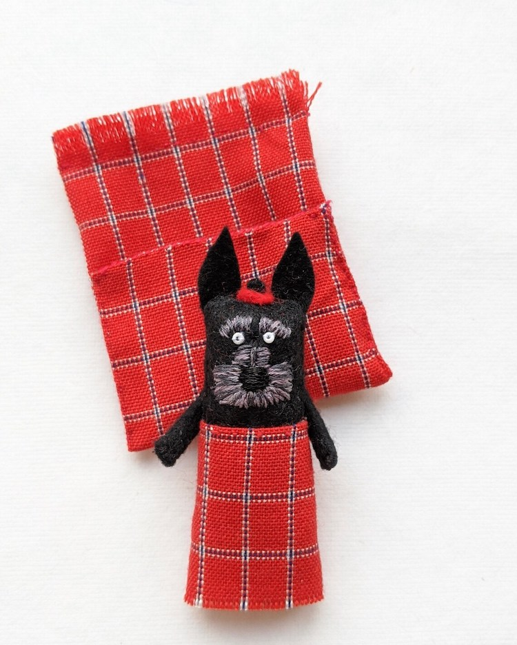 Dog Doll Inspired by Worry Doll