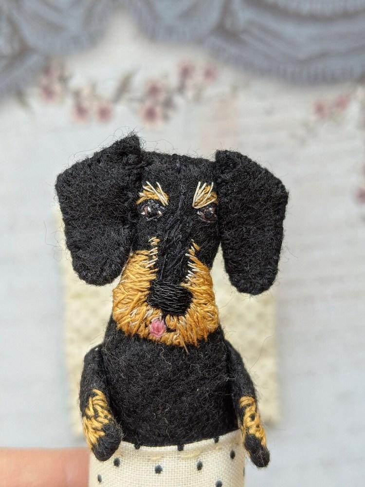 Hand Sewn Dog Doll by Makiko