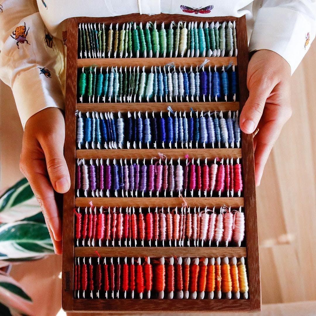 Thread organized neatly