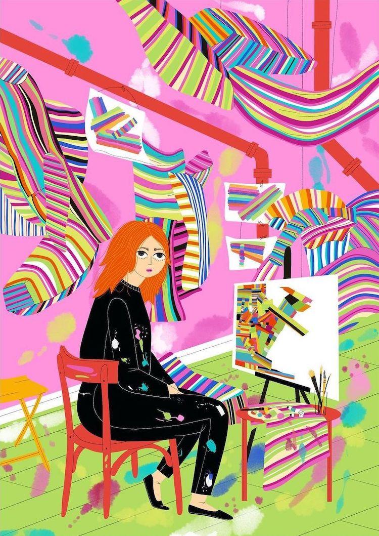Illustration of Marta Minujín