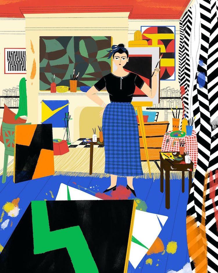 Illustration of Carmen Herrera