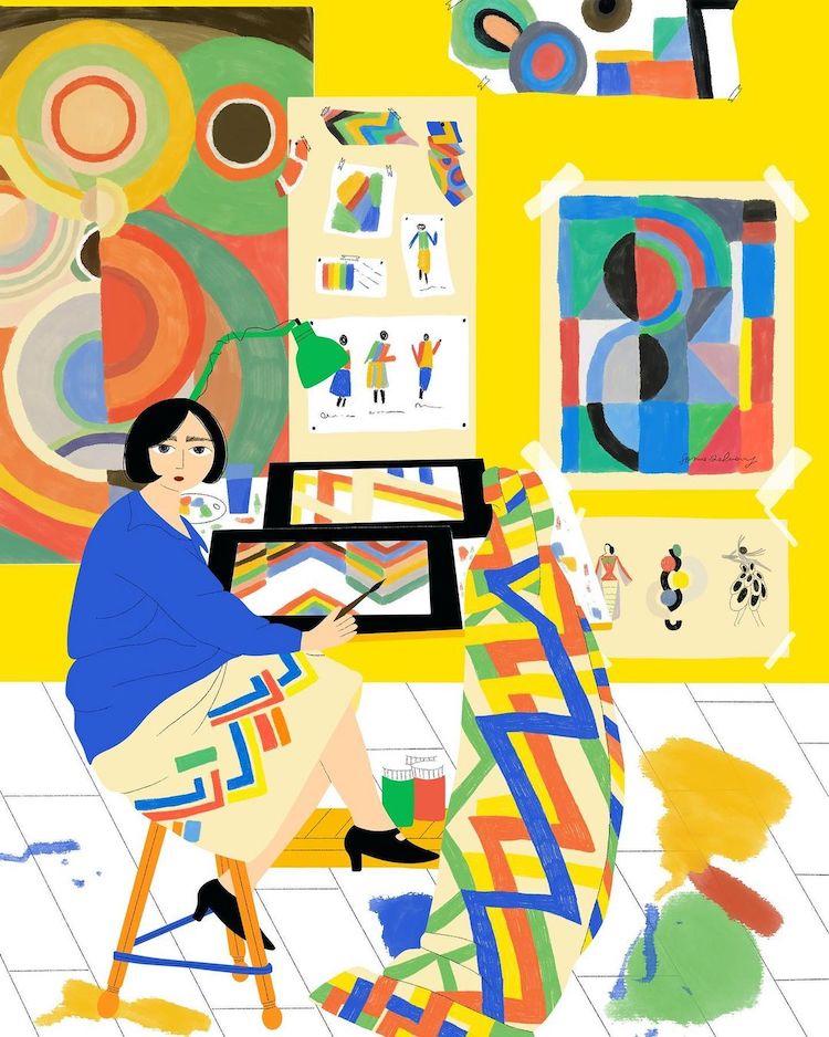 Illustration of Sonia Delaunay