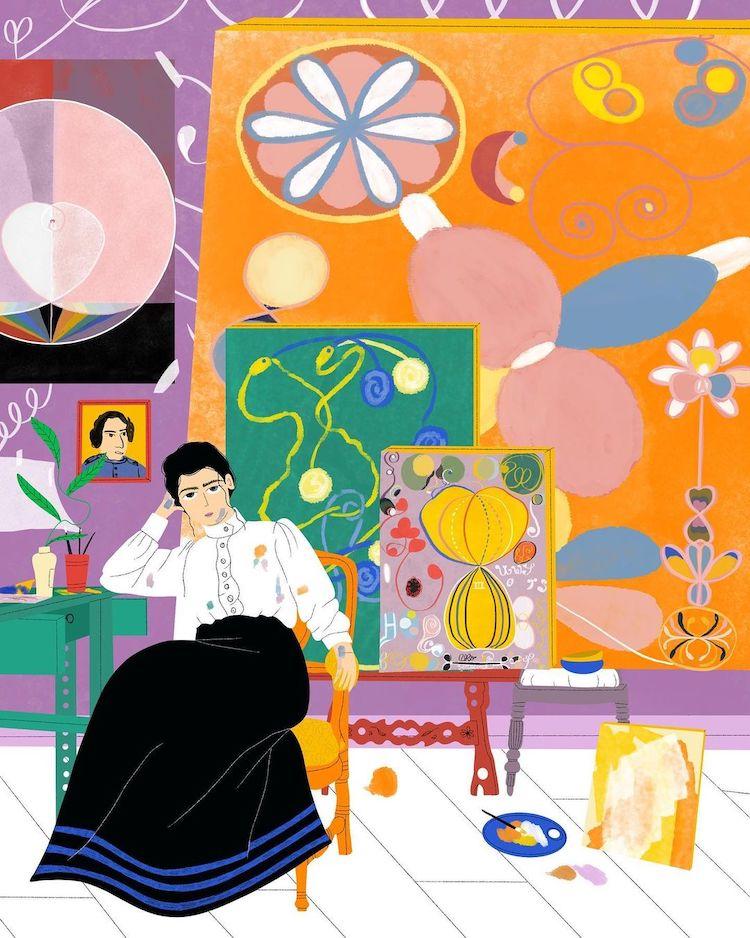 Illustration of Hilma af Klint