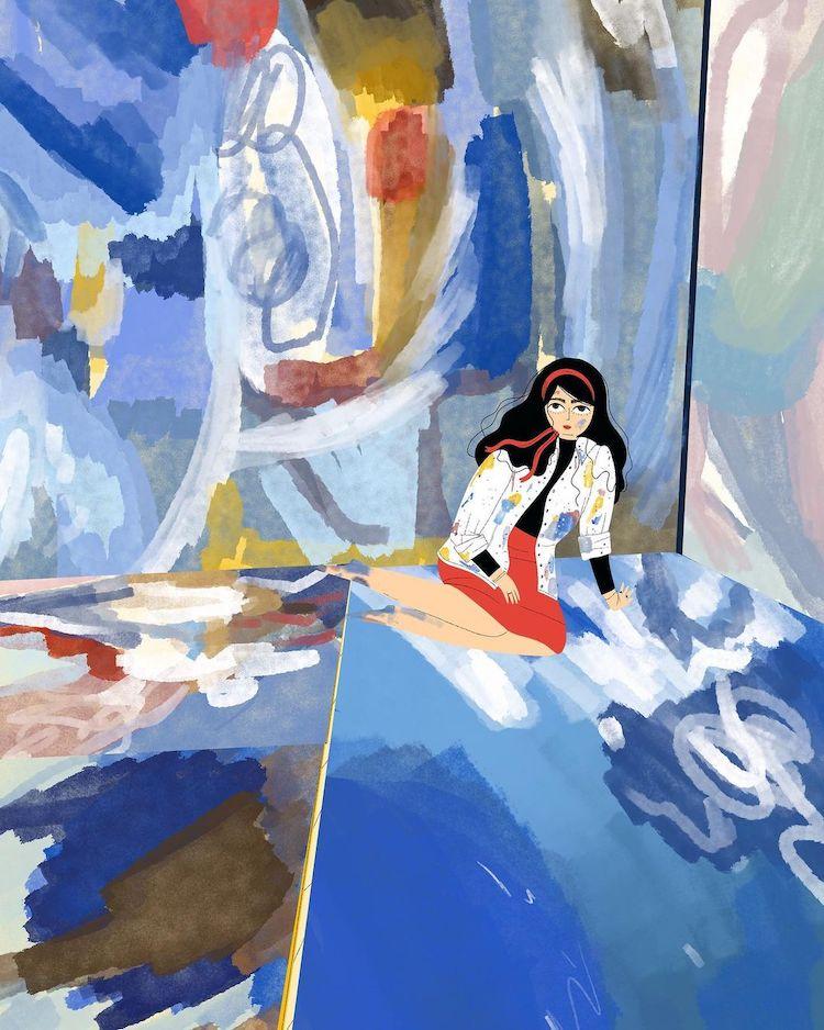 Illustration of Helen Frankenthaler